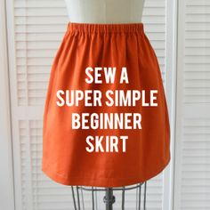 sew a super simple skirt . sewing 101 - Shrimp Salad Circus - Click image to find more DIY & Crafts Pinterest pins