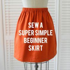 sew a super simple skirt . sewing 101 � Shrimp Sal
