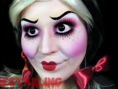 makeup. #Halloween #costume- Considering this for Halloween