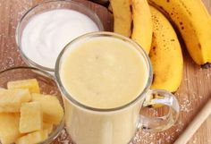 Pineapple-Coconut Banana Smoothie  2 cups sliced pineapple 2 ripe bananas 1 cup coconut milk