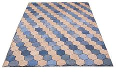 Teppich Fußbodenteppich Patchwork Design RUG JEANS Honeycomb 120x180cm Blau N10089 Hamed http://www.amazon.de/dp/B0187LJ8LA/ref=cm_sw_r_pi_dp_TcYuwb1C1PD2J
