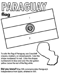 paraguay country coloring | Paraguay coloring page So, I love this but not for coloring. When students do their cultural project, they can pick a paper out of the stack (Or smaller pieces in a hat) so they don't fight over the counties, but they can trade if they want.