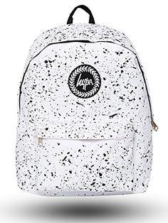 4ecd682b Hype Backpack | Unisex Rucksack Designer School Shoulder Bag | Just Hype  Bags (One size, Speckle White)