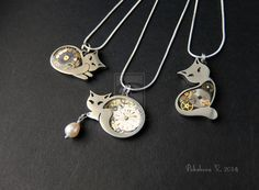 new britanium cat pendants by IkushIkush.deviantart.com on @DeviantArt