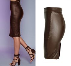 Newest High Waist Leather Skirts - Aladdin's Box . Denim Coat, Denim Skirt, Leather Skirts, Leather Pants, Aladdin, Short Skirts, Mini Skirts, Cute Casual Outfits, Vintage Skirt