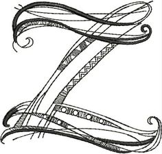 Letter Z Zenspirations by Joanne Fink embroidery alphabet Monogram Alphabet, Alphabet And Numbers, Embroidery Alphabet, Rhythmic Pattern, Graffiti Lettering, Typography, Model Train Layouts, Bullet Journal Ideas Pages, Letter Art