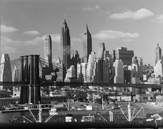 The Brooklyn Bridge and, beyond, the skyline of Lower Manhattan, 1948. inShare21 Share on Tumblr Architecture & Design 1928 1971  Wha...