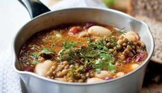The curry powder and herbs lift the flavour of this soup, making salt unnecessary.