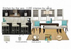 Kitchen by the sea... LUXE interiors by anne.