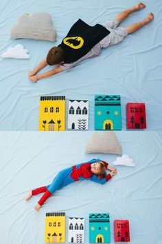 Cool Birthday Photo Booth Idea for Kids | Super Hero Photo Booth by DIY Ready at http://diyready.com/20-diy-photo-booth-ideas/