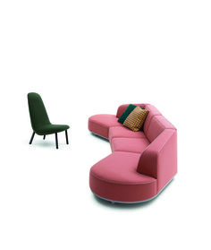 Arflex Arcolor sofa and Leafo chair both designed by Jaime Hayon
