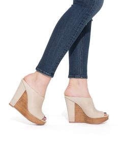 lovely neutral wedges . . . I might try heals again if they look this good.