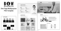 B&W - One Page Multipurpose PSD Template by ambidextrousbd Description: B&W is clean, modern and professional One-Page Multipurpose PSD Template. PSD files is perfectly organized, so you ca