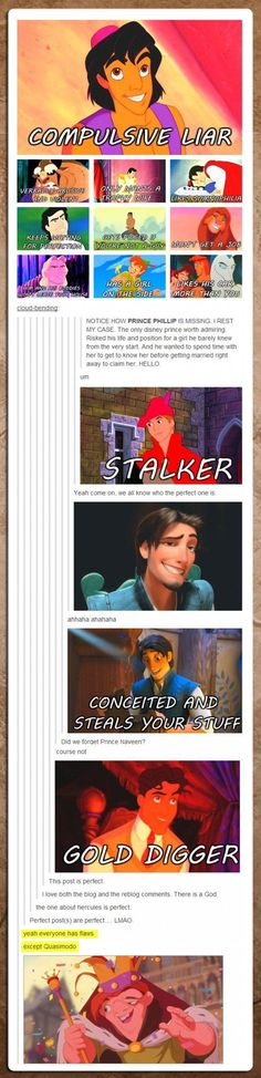 Disney prince's are such scumbags… and before you say a WORD.... I don't care if you agree or not. You don't have to. If you agree, like it, if you don't agree, just keep fucking scrolling. That is all.