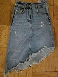 dd651fee24 Zara XS Denim High Low Skirt #fashion #clothing #shoes #accessories # womensclothing