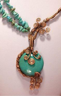 Türkis Halskette Türkis Schmuck Kupfer Türkis Halskette