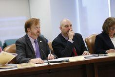Passaic County Freeholder John Bartlett (l) and Warren County Freeholder Jason Sarnoski