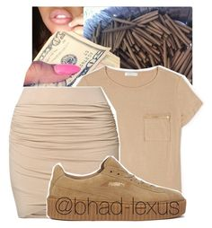 """""""OOUUU"""" by bhad-lexus ❤ liked on Polyvore featuring Forever 21, by TI MO and Puma"""