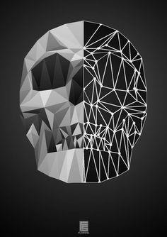 Iphone Wallpaper Nasa, Deer Skeleton, Polygon Art, Sugar Skull Tattoos, Game Concept Art, Skull And Bones, Skull Art, Low Poly, Geometric Art