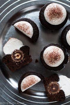 Chocolate hazelnut cupcake yumm