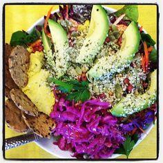 Sunflower-Seed Red Palm Oil Dressing. #chef_shanna #nutiva http://www.nutiva.com