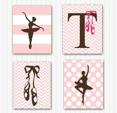 Baby Girl Nursery Art Personalized Ballerina by FitToPrintDesigns, $49.00