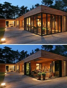 Bergman Werntoft House: Out Into the Woods - Modern Architecture Atrium House, Casas Containers, Container House Design, Home Fashion, Modern House Design, Exterior Design, Future House, Modern Architecture, House Plans