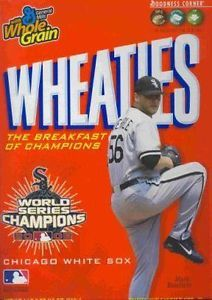 WHEATIES 2005 CHICAGO WHITE SOX WORLD SERIES CHAMPIONS CEREAL BOX