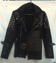 Jacket by Chad Cherry from Chad Cherry Clothing. Rocker jackets. Vampire jacket. Studded jackets.