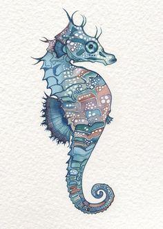 seahorse.jpg (570×798) /// deep coloured water ///
