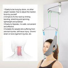 Over Door Cervical Traction Set /Hammock Neck Pain Relief Support Stretcher #Unbranded Neck Pain Relief, Medical, Medicine, Med School