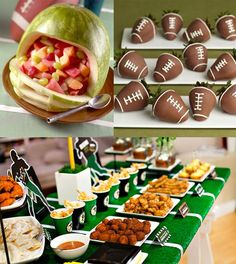 Be Different...Act Normal: Football Party Ideas [Super Bowl] awesome!!! We are so doing this when we get our own place!!! ( would be a cute idea for a little boys birthday too!!!)