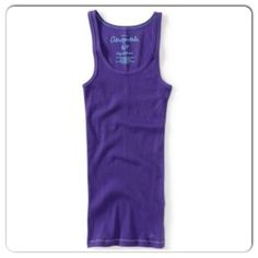 Tank Purple Ribbed Tank from Aeropostale. Stretchy. Size xs but will fit xxs-xs best. Pre-loved with minor signs of wear. Aeropostale Tops Tank Tops