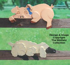 All Yard & Garden Projects - Pig & Lamb Rail Pets Pattern Garden Projects, Wood Projects, Woodworking Projects, Craft Projects, Pig Fence, Goat Fence, Scrap Wood Art, Wood Pig, Winfield Collection