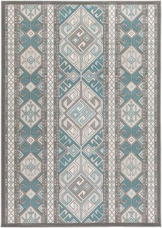 Bungalow Rose Septfontaines Teal/Beige Area Rug Rug Size: Runner x Grey Rugs, Beige Area Rugs, Teal And Grey, Gray, Urban Loft, Tribal Patterns, Area Rug Runners, Joss And Main, Home Decor Trends
