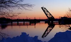 The Train Bridge - Providence, RI  Fox Pointers always called it Jack Knife bridge.