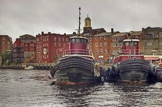 Tugboats in Portsmouth, NH.