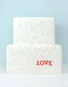 Typography cake! :D Bliss Wedding Blog and Magazine :: collections on love: Typography Love