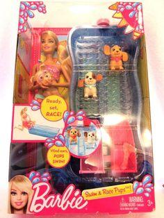 Barbie Swim And Race Pups Playset  #Mattel #DollswithClothingAccessories
