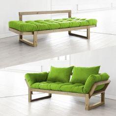 Multifunctional sofa by Karup Furniture Upholstery, Sofa Furniture, Furniture Design, Wood Pallet Furniture, Modular Furniture, Art Deco Sofa, Living Room Tv Unit Designs, Sofa Bed Design, Affordable Furniture
