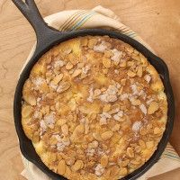Peach and Nectarine Buckle is a lovely, delicate, cake-like dessert with a sweet cinnamon-almond crumb. - Bake or Break