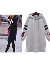 Sunnorn Femmes ArrêTez-Vous Chandails Encapuchonné Couverture SurdimensionnéE Crop Top Sweatshirt