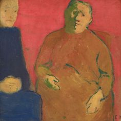 Mother and Daughter against a Red Background-c.1891 by Edouard Vuillard