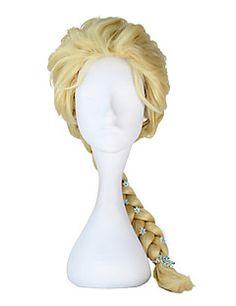 """Frozen """"Snow Queen"""" Elsa Deluxe Cosplay Wig"""