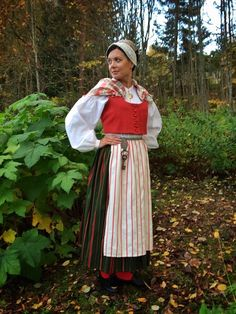 Folk Costume, Costumes, Ader, Fantasy Girl, Girly Outfits, People Around The World, Girl Scouts, Finland, Scandinavian