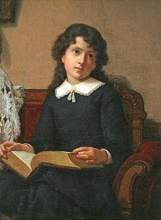 """Girl Reading"" by Lemuel Everett Wilmarth (American, 1835–1918)"