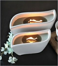 Ribbon wick candles Love these it's like a mini fire place the flame gets so big!