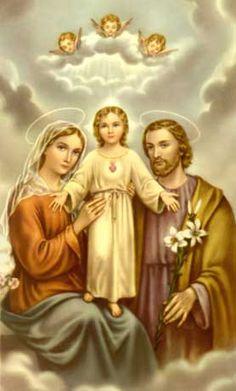 IMAGENES RELIGIOSAS: LA SAGRADA FAMILIA (SAN JOSE-LA VIRGEN- JESUS)