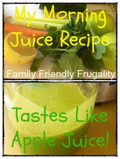 If you love to juice or you are just getting started, this is the perfect morning drink! Filled with fresh veggies and fruit, you will start your day off feeling as bright as the sun. It's like your body beams after you drink this. Healthy Juices, Healthy Smoothies, Healthy Drinks, Smoothie Recipes, Healthy Snacks, Healthy Recipes, Frugal Recipes, Wow Recipe, Recipe For 4