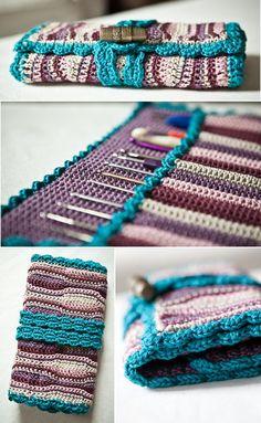 sweetheartcrochet: Häkelnadeltasche / crochet hook case